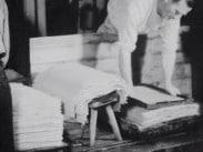 Tillverkning av handpapper, Lessebo.