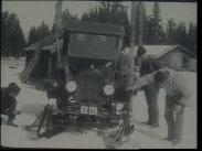 Världens första automobilsläde