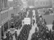 Förstamajdemonstration i Göteborg