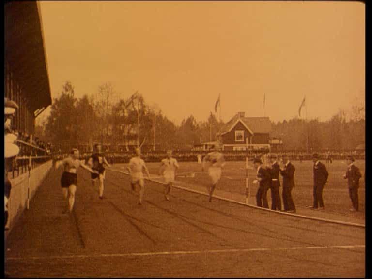 Gefles nya idrottsplats Strömvallens invigning den 3 juni 1923
