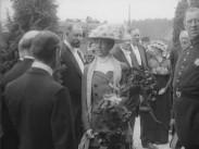 Hennes Majestät Drottningen vid Hallsberg