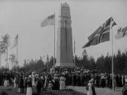 Invigning av Fredsmonumentet vid svensk-norska gränsen