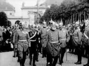 Konung Ludwig III av Bayern tar avsked av trupperna